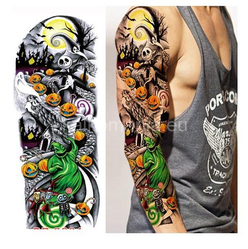 Tatuaż Na Całe Ramię Halloween Tatuaże Tymczasowe